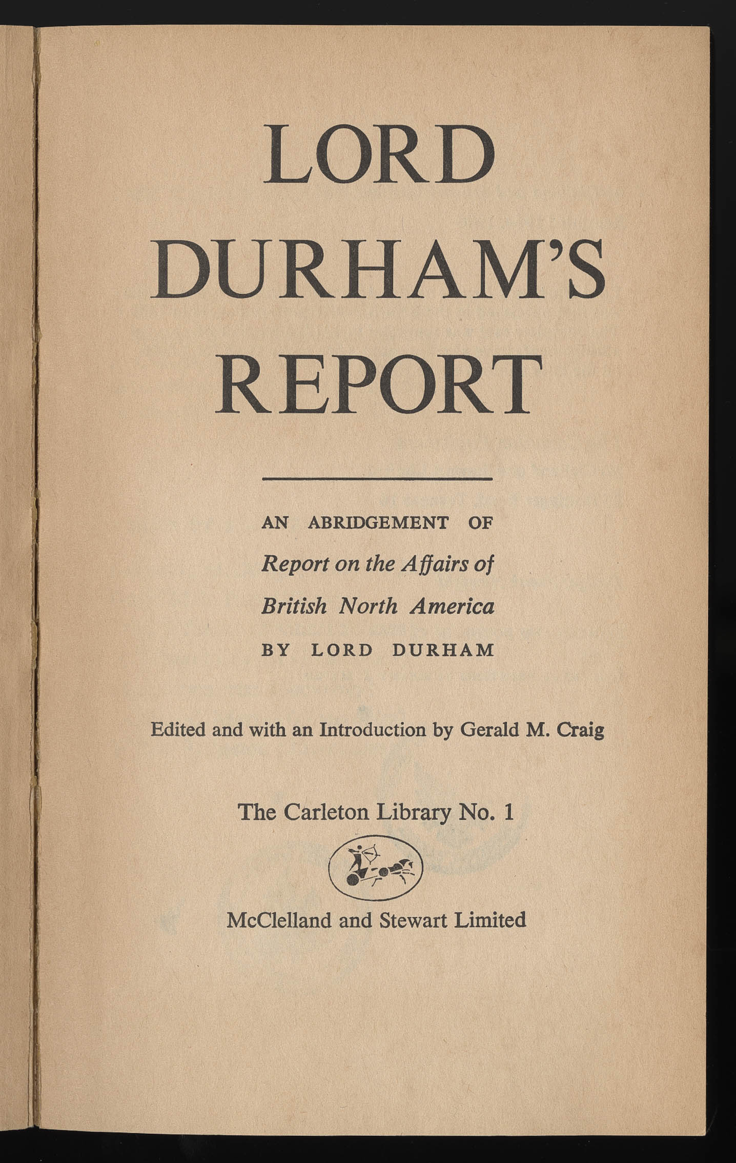 lord durham report essay