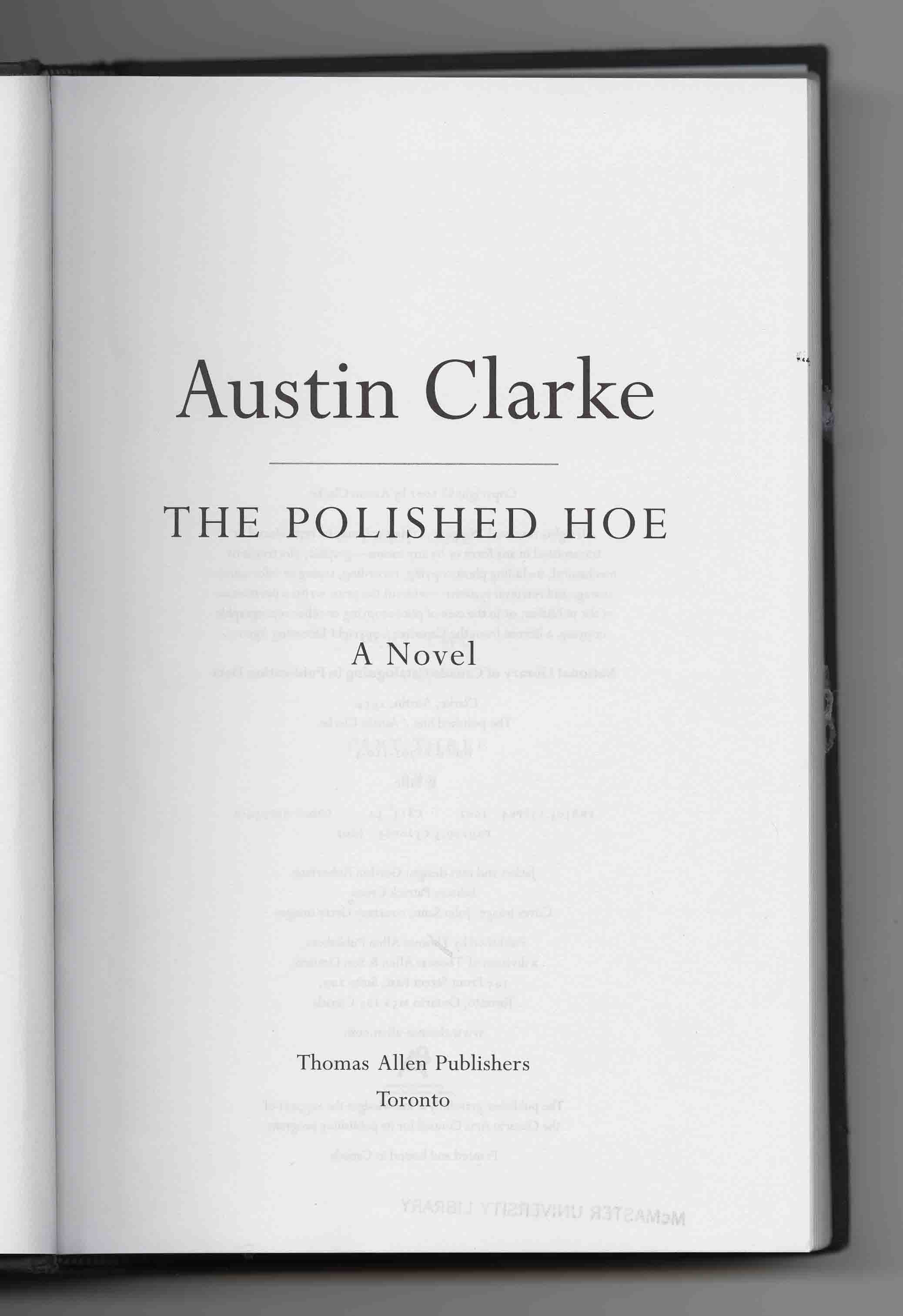 the polished hoe essay Looking for books by austin clarke see all books authored by austin clarke, including the polished hoe, and pig tails n breadfruit: a culinary memoir, and more on thriftbookscom.