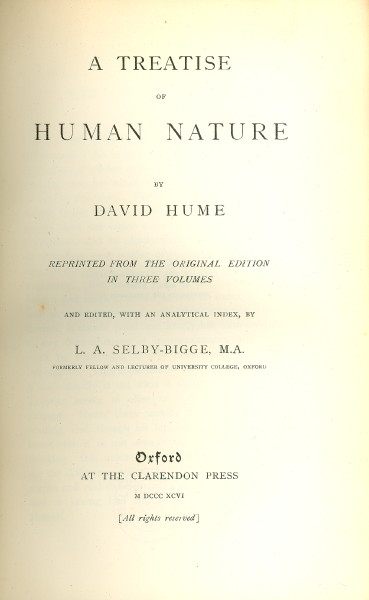 an analysis of the treatise of human nature Back to philosophy page david hume: treatise on human nature (excerpts) book i, part i, section 7 vii of abstract ideas a very material question has been started concerning abstract or general ideas, whether they be general or particular in the mind's conception of them.