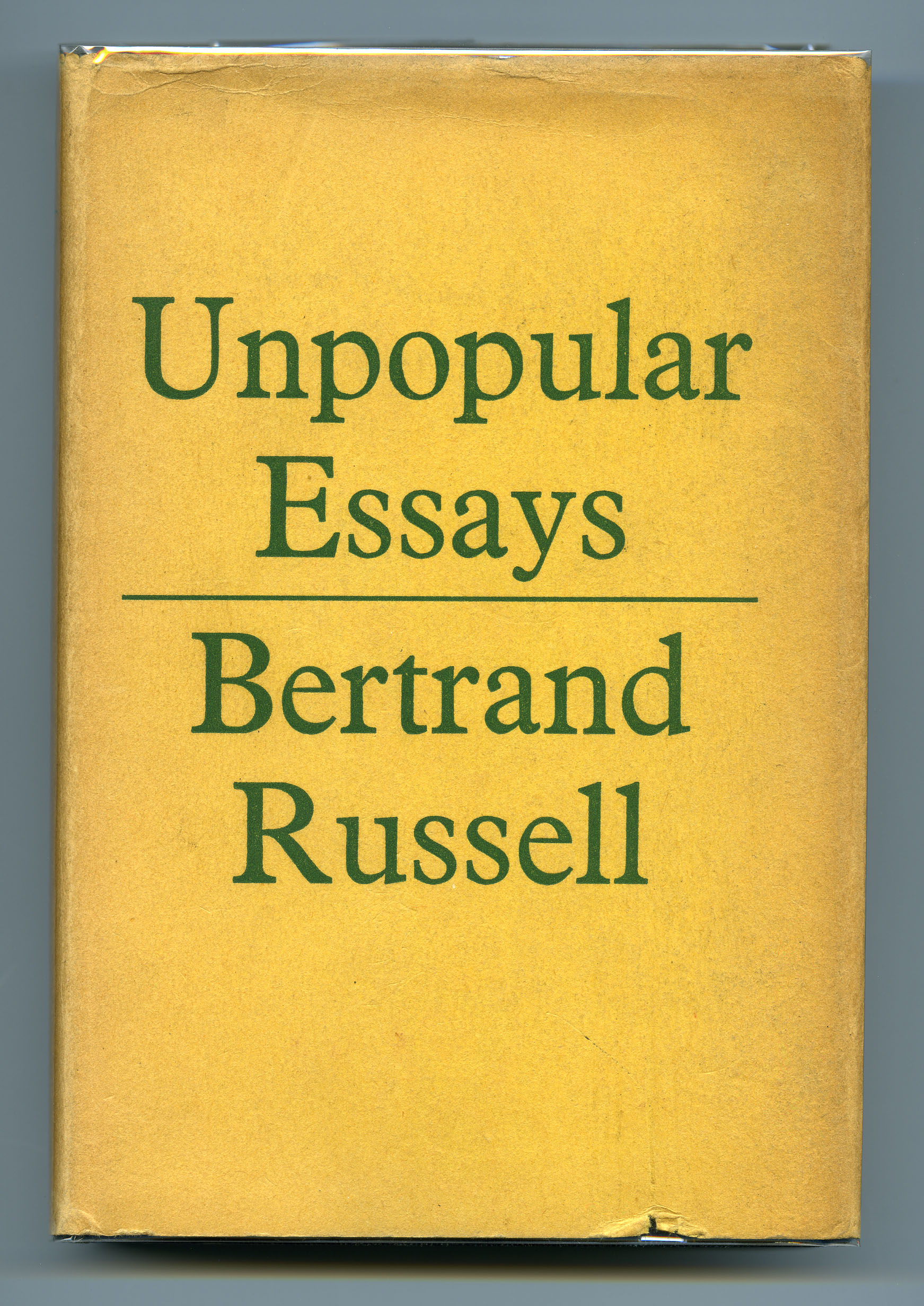 bertrand russell unpopular essays Unpopular essays isbn 13: 9780043040096  bertrand russell (1872–1970) was one of the most formidable thinkers of the modern era a philosopher, mathematician, educational innovator, champion of intellectual, social and sexual freedom, and a campaigner for peace and human rights, he was also a prolific writer of popular and influential.